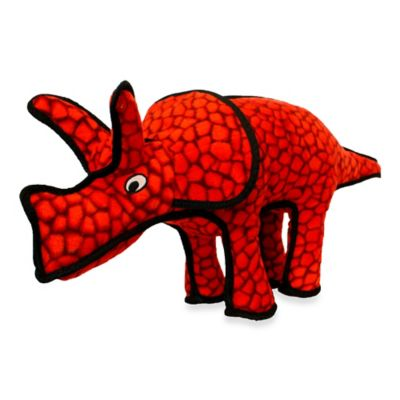 Tuffy® Triceratops Dog Toy in Red