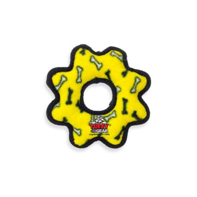 Tuffy® Junior Gear Ring Squeaker Dog Toy in Yellow