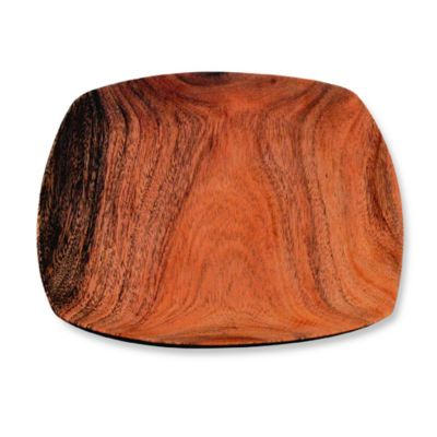 Acacia Wood Tapered 10-Inch Square Serving Plate