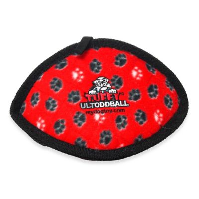 Tuffy® Ultimate Odd Ball Dog Toy in Red Paws Print
