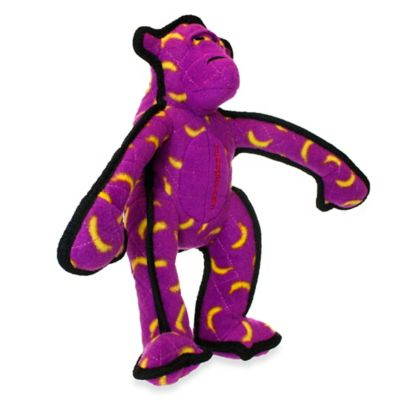 Tuffy® Monkey Squeaker Dog Toy in Purple