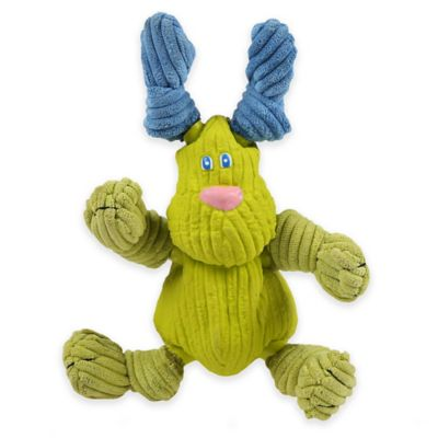 HuggleHounds® Medium Bugsy the Dog Dog Toy in Lime