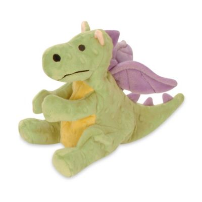 Quaker Pet Chew Guard™ Dragon Squeaker Dog Toy in Lime Green