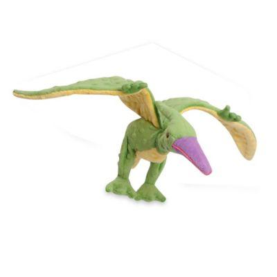 Flying Dinosaur Grunter Dog Toy in Green/Yellow/Purple