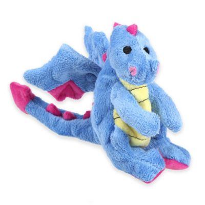 Quaker Pet Chew Guard™ Mini Dragon Squeaker Dog Toy in Periwinkle Blue