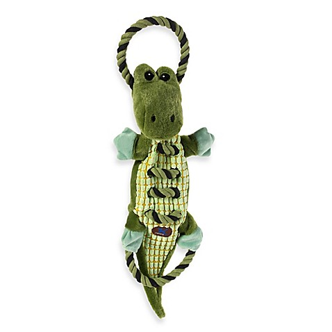 Ropes A Go Go Gator Squeaker Dog Toy In Green Bed Bath