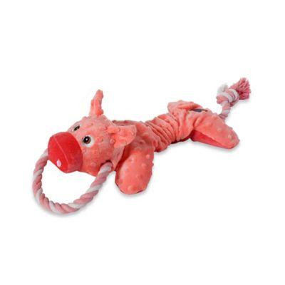 Scrunch Bunch™ Pig Squeaker Dog Toy in Pink