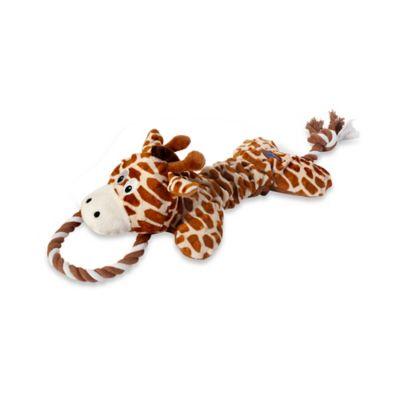 Scrunch Bunch™ Giraffe Squeaker Dog Toy in Orange