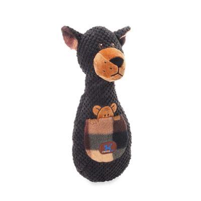 Plaidmates™ Tasmanian Devil Squeaker Dog Toy in Black
