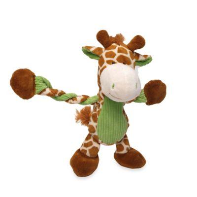 Pulleez™ Giraffe Squeaker Dog Toy in Orange