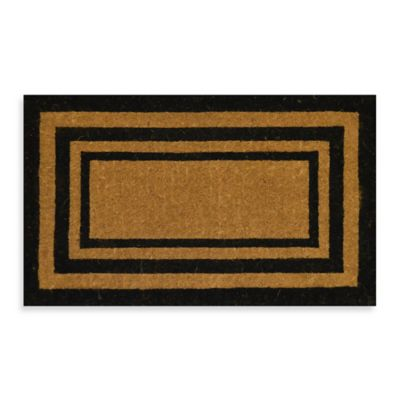 Imperial Triple Border 30-Inch x 18-Inch Doormat in Beige/Black