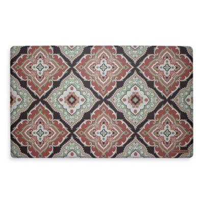 Laura Ashley® Allie 32-Inch x 20-Inch Memory Foam Kitchen Mat in Rust