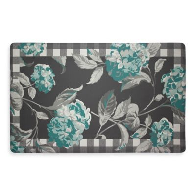 Laura Ashley® Hydrangea 32-Inch x 20-Inch Memory Foam Kitchen Mat