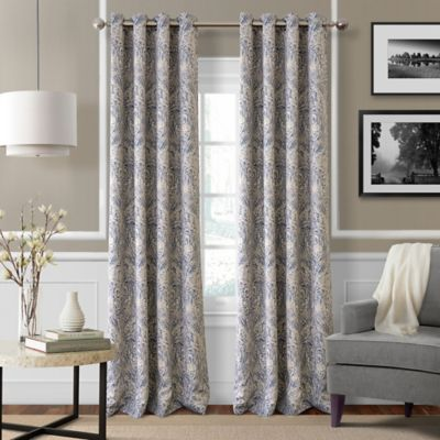 Julianne 84-Inch Blackout Grommet Top Window Curtain Panel in Blue