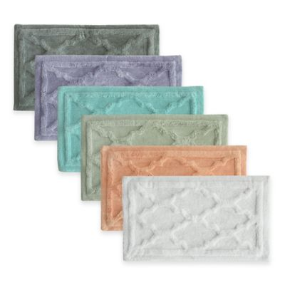 Jessica Simpson 17-Inch x 24-Inch Penelope Bath Rug in Light Green