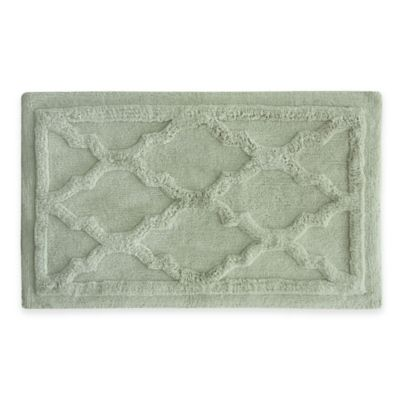 Jessica Simpson 24-Inch x 40-Inch Penelope Bath Rug in Light Green