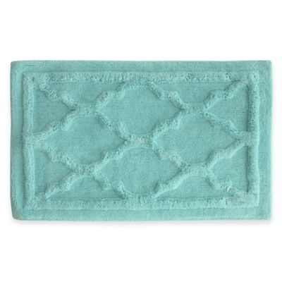 Jessica Simpson 24-Inch x 40-Inch Penelope Bath Rug in Turquoise