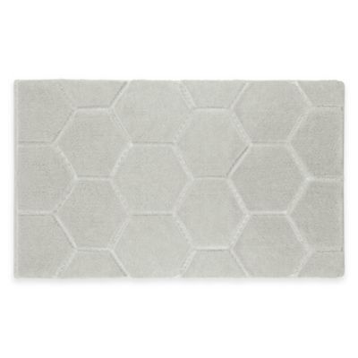 Laura Ashley® Pearl 20-Inch x 32-Inch Honeycomb Bath Rug in Cream