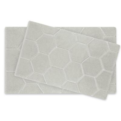 Laura Ashley® Pearl Honeycomb Bath Rug in Cream (Set of 2)