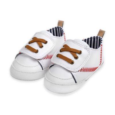 Rising Star™ Size 6-9M Baseball Sneaker in White
