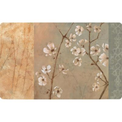Cushy Comfort 30-Inch x 18-Inch Cool Blossoms Anti-Fatigue Kitchen Mat