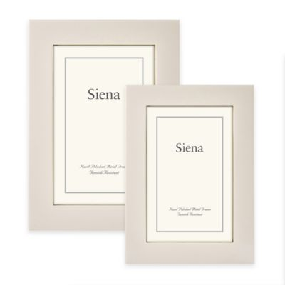 Siena Metallics 4-Inch x 6-Inch Flat Plain Deep Profile Frame in Pearl White