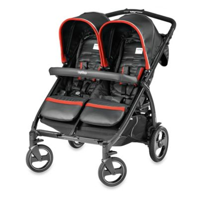 Black Red Double Stroller