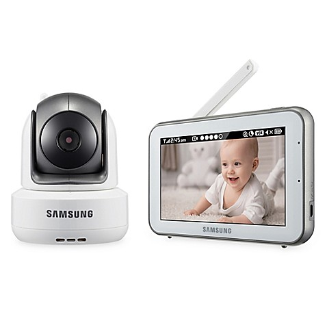 samsung brightview digital hd video baby camera and monitor with 5 inch color touch screen bed. Black Bedroom Furniture Sets. Home Design Ideas