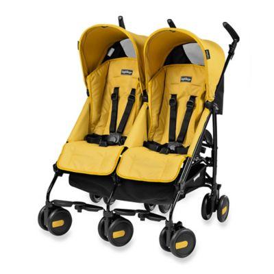 Strollers > Peg Perego Pliko Mini Twin Stroller in Mod Yellow