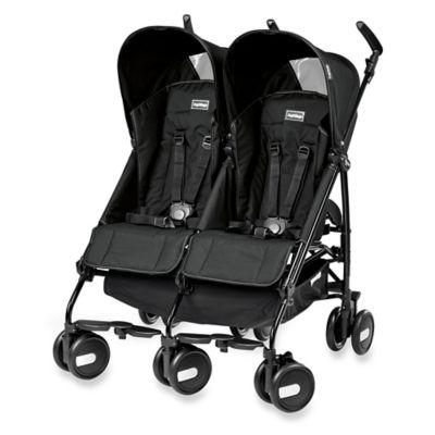 Strollers > Peg Perego Pliko Mini Twin Stroller in Onyx