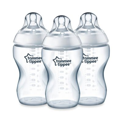 Tommee Tippee® Closer to Nature® 3-Pack 11 oz. Added Cereal Clear Bottles