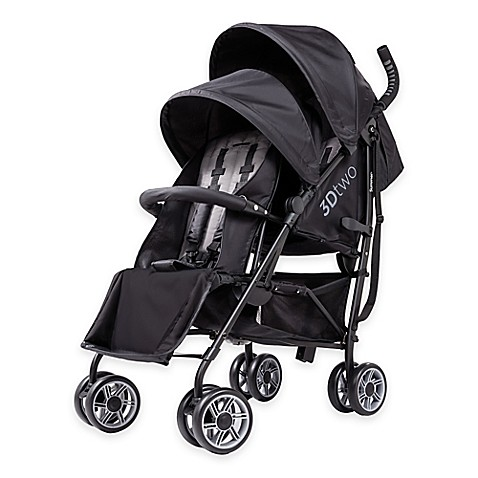 Summer Infant® 3Dtwo Double Convenience Stroller in Black ...
