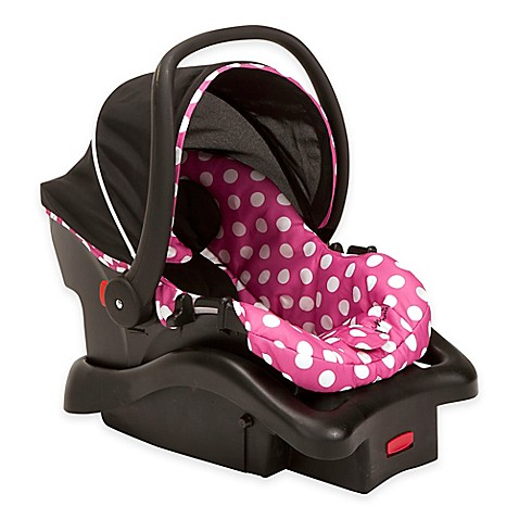 disney light n comfy minnie mouse polka dot luxe car seat in pink bed bath beyond. Black Bedroom Furniture Sets. Home Design Ideas