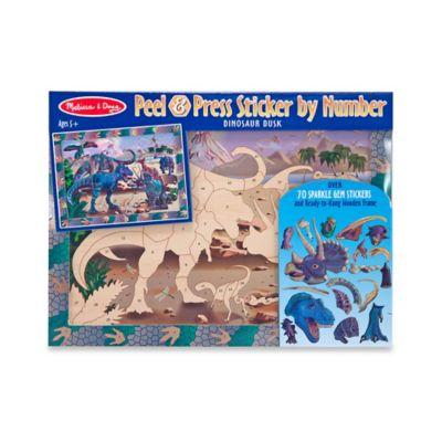 Melissa and Doug® Dinosaur Dusk Peel & Press Sticker by Number