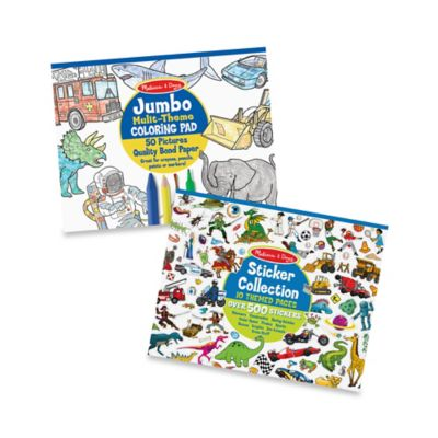 Melissa & Doug® Multi-Theme Coloring and Sticker Pad Bundle