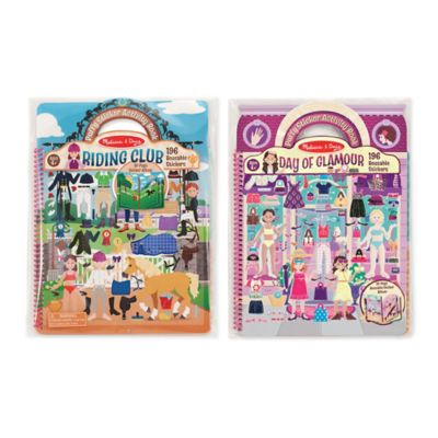 Melissa and Doug® Puffy Sticker Dress-Up Album Bundle (Set of 2)