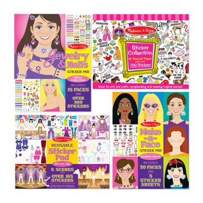 Melissa & Doug® Girls Sticker Bundle (Set of 4)