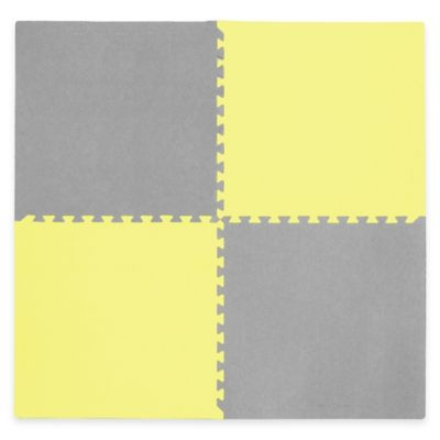 Tadpoles Play Mat in Yellow/Grey