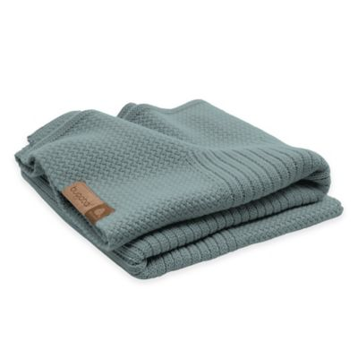 Grey Blue Stroller Blanket