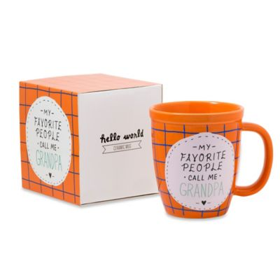 "About Face Designs ""My Favorite People Call Me Grandpa"" Mug"