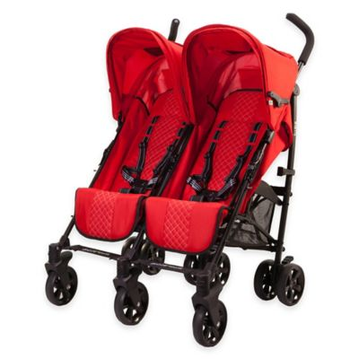guzzie+Guss Twice Stroller in Red