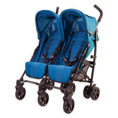 guzzie+Guss Twice Stroller in Aqua