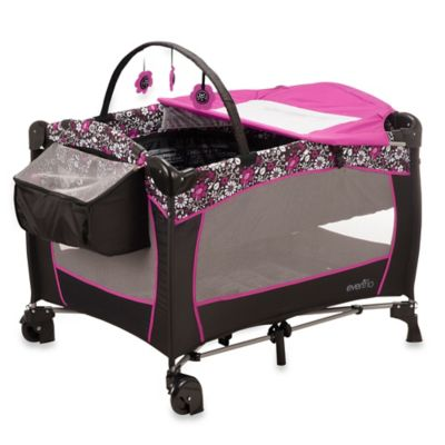 Evenflo® Daphne Portable BabySuite® Deluxe Playard in Pink/Black