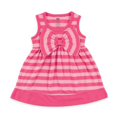 Baby Vision Hudson Baby Size 18-24M Striped Sleeveless Dress with Big Bow in Pink
