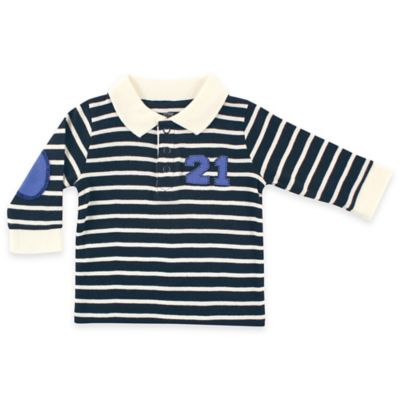 BabyVision® Hudson Baby® Size 12-18M Long-Sleeve Twenty-One Rugby Shirt