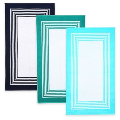 Resort Layered Frame Beach Towel in Aqua