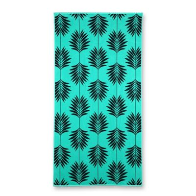 Palm Oversized Beach Towel in Aqua