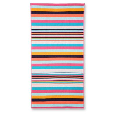 Striped Terry Oversized Beach Towel