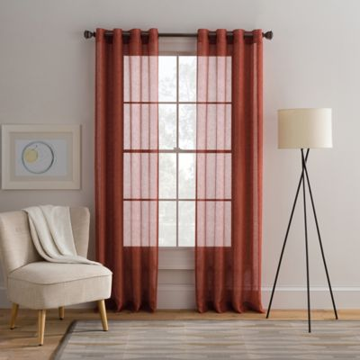 Cambria® Alix 95-Inch Grommet Top Sheer Window Curtain Panel in Spice