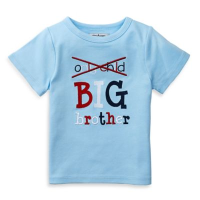 """Mud Pie® Size 18M """"Big Bro"""" Embroidered Shirt in Light Blue"""